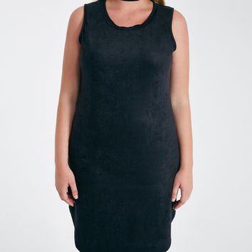 Plus Size Faux Suede Shirttail Dress | Wet Seal Plus