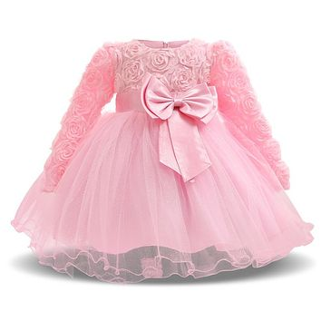 Newborn Baby Girls Wedding Dress Girl Clothes Formal Ball Birthday Party Princess kids Tutu Dress Infant Girl Dresses Winter