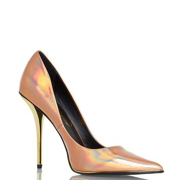 Privileged Meloni Metal Heels - Rose Gold from Privileged Shoes at ShopRoxx.com