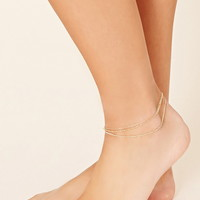 Layered Chain Anklet   Forever 21 - 1000177394