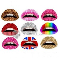 Muimes Temporary Lip Tattoo Appliques for Party or Fancy Dress 5pcs - US DinoDirect.com
