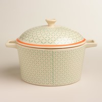 Stamped Ceramic Deep Baker