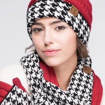 Houndstooth CC Beanie - 2 Colors!