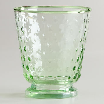 Green Hobnail Double Old Fashioned Glasses, Set of 4 - World Market