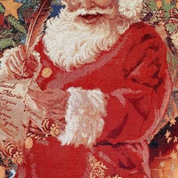 "Tache New 50 x 60"" Festive Christmas Old St Nick Tapestry Throw"