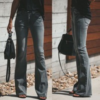 Winter Stylish Stretch Slim Boot Cut Denim Jeans [1564268691510]