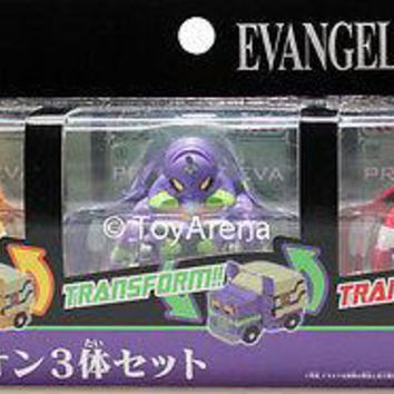 Q Transformers QTC-02 Evangelion EVA 00 01 02 3 pack Action figure FREE Shipping