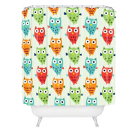 Andi Bird Owl Fun Shower Curtain