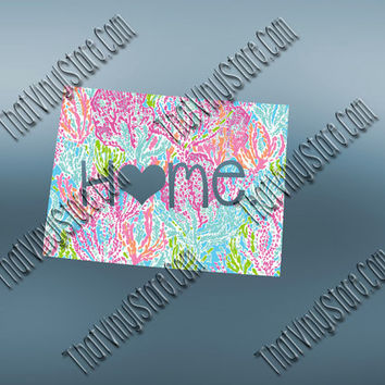 Colorado Heart Home Decal | I Love Colorado Decal | Homestate Decals | Love Sticker | Preppy State Sticker | Preppy State Decal | 046