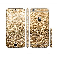 The Gold Glimmer V2 Sectioned Skin Series for the Apple iPhone 6 Plus