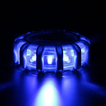 Mini 12* LED Emergency Safety Flare Roadside Disc Beacon