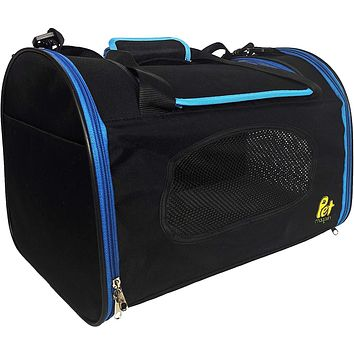 Foldable Pet Carrier Waterproof, Collapsible Soft Pet Transport Bag for Cats, Small Dogs & Pets for Car & Plane