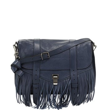 PS1 Fringe Runner Satchel Bag, Midnight - Proenza Schouler