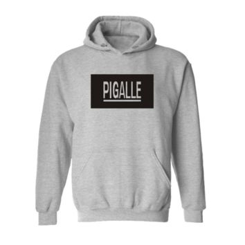 Street PIGALLE A $ AP Rocky HBA PYREX men and women Hooded sweater coat cool  Gray