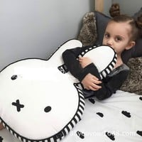 Ins Hot Bunny Rabbit Doll Pillow Miffy Doll Cartoon Miffy Rabbit Cushion Children Room Decoration Pictures Props Gift for Kids