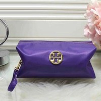 Tory Burch Women Trending Fashion Contracted Leather Zipper Wallet Purse Purple G