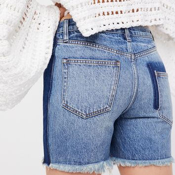 Free People Pieced Boyfriend Short