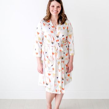 Retro Triangle Robe by Posh Peanut