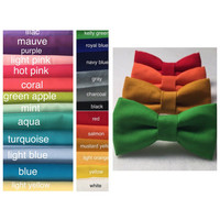 Solid colors bow tie for boys. Solid colors bowties. Pastel colors bow ties.