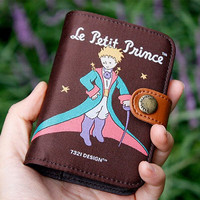 Flap Card Wallet - The Little Prince Deep Brown