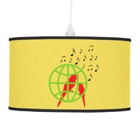 Musical red birds ceiling lamp