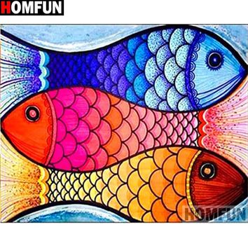 5D Diamond Painting Abstract Fishes Kit