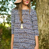 EVERLY: State Of Grace Tunic-Navy