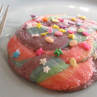 Unicorn Poop Cookies Rainbow Sparkly Glitter Princess Easter Cookies by BakeAllTheThings on Etsy