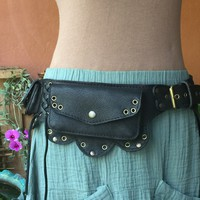 Leather Utility Belt Bag | Burning Man | Festival Hip Bag / Pouch - the LOTUS