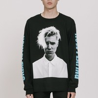 #1 Now Playing Long Sleeve Tee Black/Blue