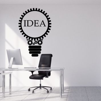 Vinyl Wall Decal Idea Lamp Light Creative Office Decoration Stickers (2503ig)