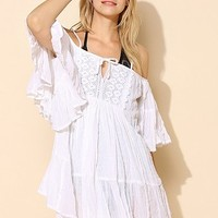 Roxy Ruffle Cover-Up Romper - Urban Outfitters