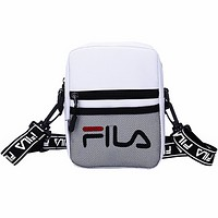 FILA tide brand men and women couple small bag string single shoulder messenger bag White