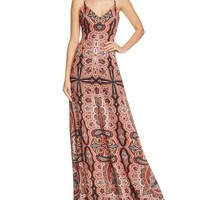 Alice and OliviaAlves Cross-Back Maxi Dress