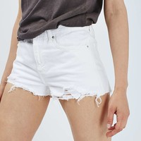 MOTO White Rosa Denim Short - Topshop