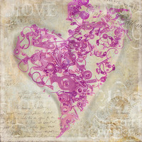 Love Is A Gift Photograph by Fran Riley - Love Is A Gift Fine Art Prints and Posters for Sale #heart #art #love #victorian #valentine