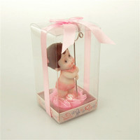 Baby Shower Favor Place Card Holder, 4-1/2-inch, Beach Girl, Light Pink
