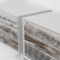 Cody Side Table in Recycled Light Grey Washed Wood