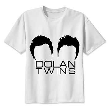 Dolan Twins Men Print T-Shirts Fashion Print T-Shirts Short Sleeve O Neck Tees