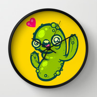 Pickled Cactus Wall Clock by Artistic Dyslexia