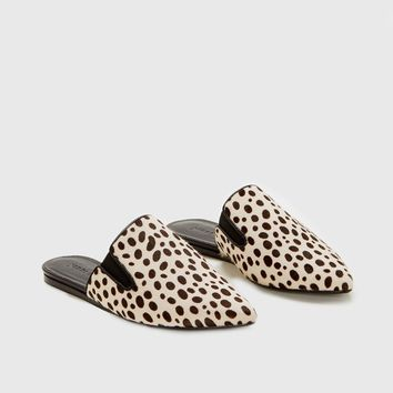 Pony Hair Mule - Snow Leopard
