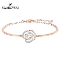 Swarovski New fashion diamond floral sterling silver bracelet women Rose Gold