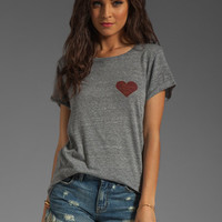 A Fine Line Hasting Heart Tee in Heather Grey from REVOLVEclothing.com
