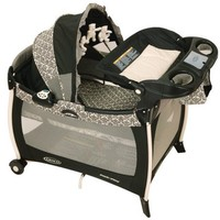 Graco Silhouette Pack 'N Play Playard with Bassinet and Changer, Rittenhouse