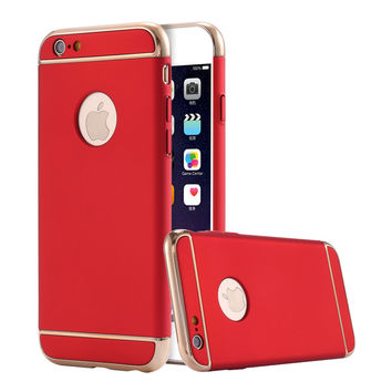 For iPhone 7 Luxury Phone Case For iPhone 6 6s Ultra Slim PC Hard Back Cover For iPhone 7 Plus Hybrid Cases For iPhone 6 6s Plus