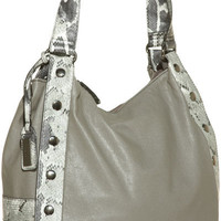 XOXO Tik Tak Shoulder Bag W/ Python Trim