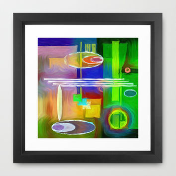 COLOR SCAPE Framed Art Print by Robleedesigns