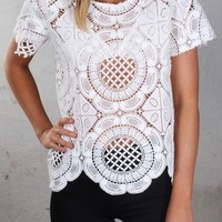By Your Side Lace Top - Womens