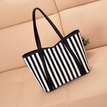 Summer Stripes One Shoulder Casual Stylish Bags [6582429831]