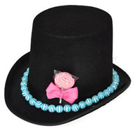 Candy Covered Top Hat (Pink/Blue)